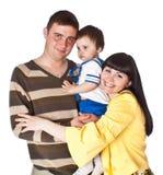 Portrait der glücklichen Familie Stockfotografie