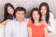 Portrait der glücklichen Familie Lizenzfreies Stockfoto