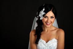 Portrait der glücklichen schönen Braut Lizenzfreie Stockbilder