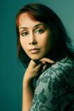 Portrait der hübschen Frau. Stockfotografie