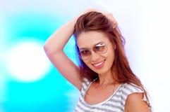 Portrait in der Hintergrundbeleuchtung Stockfotografie