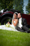 Portrait der Hochzeitspaare Lizenzfreie Stockfotografie
