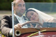 Portrait der Hochzeitspaare Stockbild