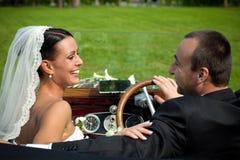 Portrait der Hochzeitspaare lizenzfreies stockbild