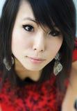 Portrait der jungen asiatischen Frau stockbild