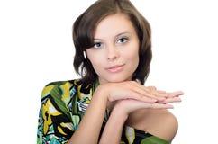 Portrait der jungen ausgezeichneten Frau Lizenzfreie Stockfotografie