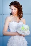 Portrait der jungen Braut Stockfoto