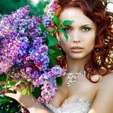 Portrait der jungen Braut Lizenzfreies Stockbild