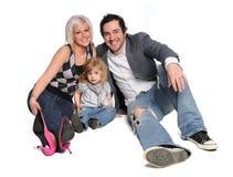 Portrait der jungen Familie Stockfotos
