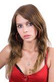 Portrait der jungen Frau der Schönheit Stockbild
