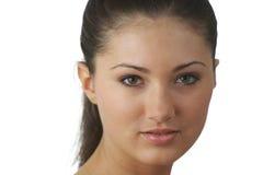 Portrait der jungen Frau mit Gesundheitshaut des Gesichtes Lizenzfreies Stockfoto