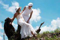 Portrait der jungen, glücklichen Paare Lizenzfreie Stockfotografie