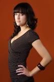 Portrait der jungen hübschen Frau Stockfoto