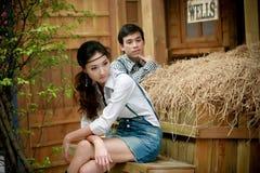 Portrait der jungen künstlerischen Paare Stockfotos