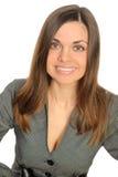 Portrait der jungen lächelnden Frau Lizenzfreies Stockfoto