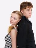 Portrait der jungen Paare in den Problemen stockbilder