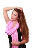 Portrait der jungen reizenden Frau Stockfoto