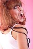 Portrait der jungen reizvollen Frau Lizenzfreies Stockfoto
