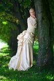 Portrait der jungen schönen Braut Stockbild
