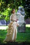 Portrait der jungen schönen Braut Lizenzfreie Stockfotografie