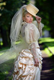 Portrait der jungen schönen Braut Lizenzfreies Stockfoto