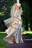 Portrait der jungen schönen Braut Stockfotografie