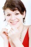 Portrait der jungen, schönen Frau Lizenzfreies Stockfoto