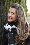 Portrait der jungen schönen Frau Stockbilder