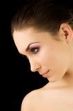 Portrait der jungen schönen Frau lizenzfreie stockfotos