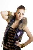 Portrait der jungen schönen reizvollen Frau Lizenzfreie Stockfotos
