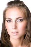 Portrait der jungen Schönheitsfrau Lizenzfreies Stockfoto