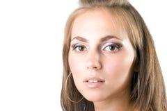 Portrait der jungen Schönheitsfrau Stockfotografie