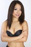 Portrait der jungen und schönen asiatischen Frau. Lizenzfreie Stockfotografie