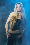 Portrait der jungen verlockenden Frau Stockfotos