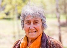 Portrait der lächelnden älteren Frau stockbilder