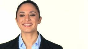 Portrait der lächelnden Geschäftsfrau stock footage
