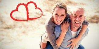 Portrait der lachenden Paare Lizenzfreies Stockfoto