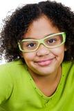 Portrait der Mädchen-Aufstellung Stockfoto