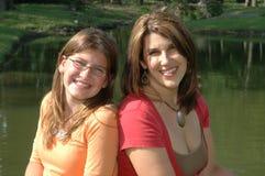 Portrait der Mammas und der Tochter stockbilder