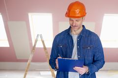 Portrait der manuellen Arbeitskraft Lizenzfreie Stockbilder