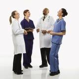 Portrait der medizinischen Gesundheitspflegearbeitskräfte. Stockfotos