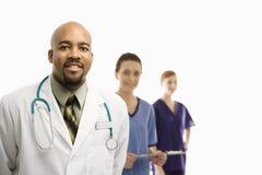 Portrait der medizinischen Gesundheitspflegearbeitskräfte. Stockbilder