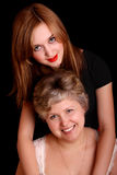 Portrait der Mutter mit Tochter stockfotos
