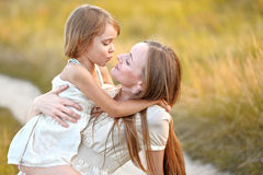 Portrait der Mutter und der Tochter Lizenzfreie Stockfotos