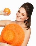 Portrait der Orangen Lizenzfreie Stockfotos