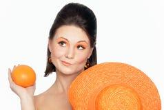 Portrait der Orangen Stockfotografie