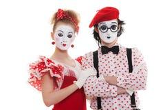 Portrait der Pantomimen Stockfoto