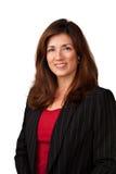 Portrait der recht fälligen Geschäftsfrau Stockfotos