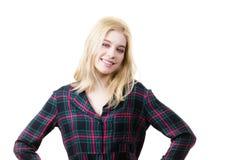 Portrait der recht jungen Frau stockbild