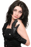 Portrait der recht jungen Frau Lizenzfreies Stockfoto